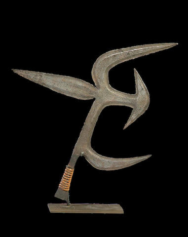 Azande Prestige Sceptre/Throwing Knife, Democratic Republic of the Congo