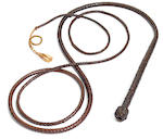 Bullwhip, Raider's of the Lost Ark. With letter of provenance from Kit West. Used in SPFX. 1 of 6 used in stunt sequences.