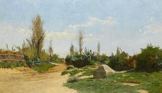 Hugh Bolton Jones (American, 1848-1927) The Road to Fez