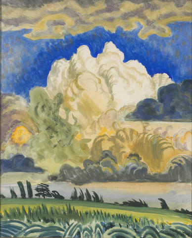 Charles Burchfield (American, 1893-1967) The White Cloud