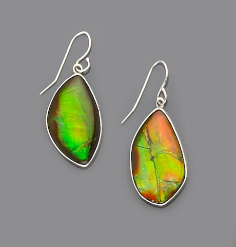 Pair of Ammolite Earpendants
