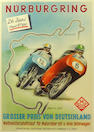 A Nurburgring G P Germany poster, 1955,