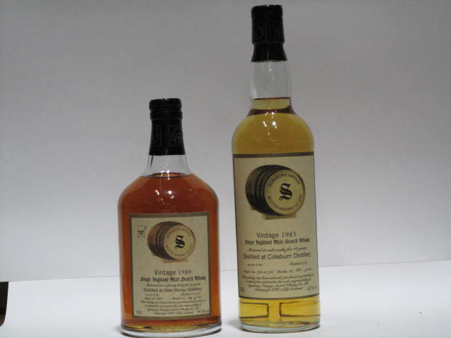 Coleburn- 14 year old-1983  Glen Moray- 9 year old-1989