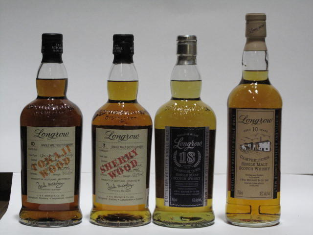 Longrow-10 year oldLongrow-10 year old-1995Longrow-13 year old-1989Longrow-18 year old