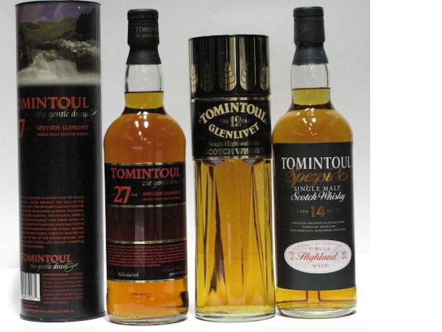 Tomintoul Glenlivet-12 year oldTomintoul-14 year oldTomintoul-27 year old (2)