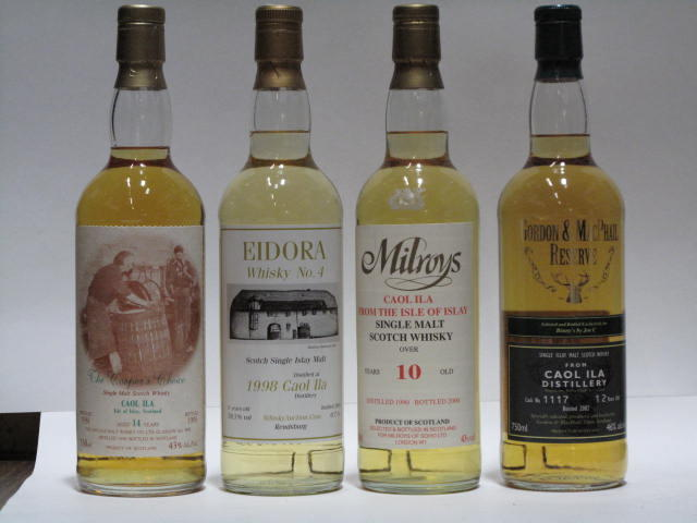 Caol Ila-6 year old-1998Caol Ila-10 year old-1990 (2)Caol Ila-12 year old (2)Caol Ila-14 year old-1981