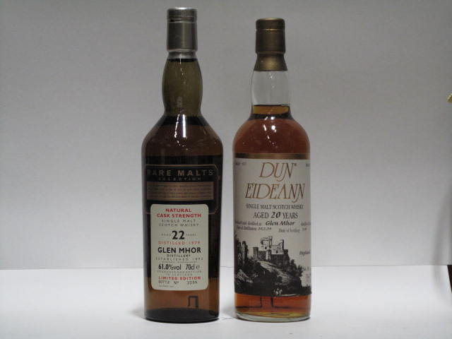 Glen Mhor- 20 year old-1979  Glen Mhor- 22 year old-1979