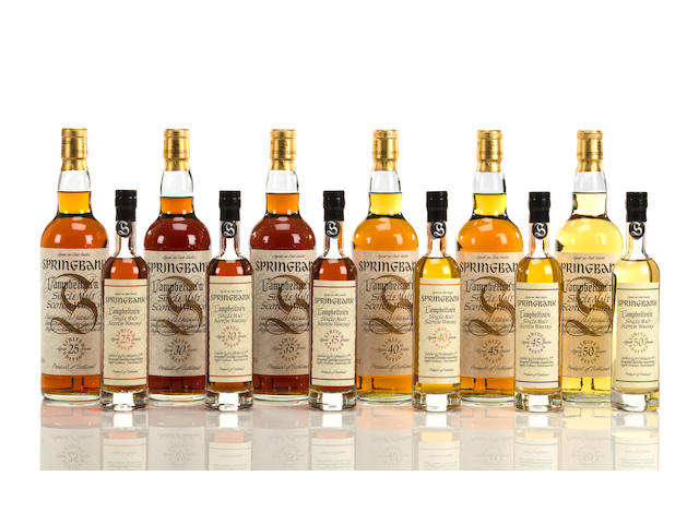 Springbank- 25 year old  Springbank- 30 year old  Springbank- 35 year old  Springbank- 40 year old  Springbank- 45 year old  Springbank- 50 year old