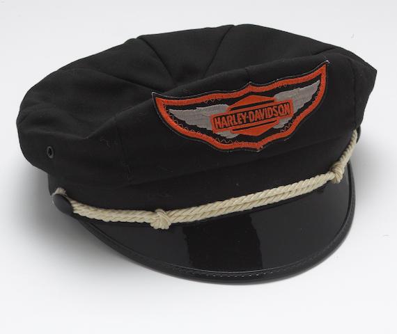 A Harley Davidson motorcycle cap, Circa 1960's,