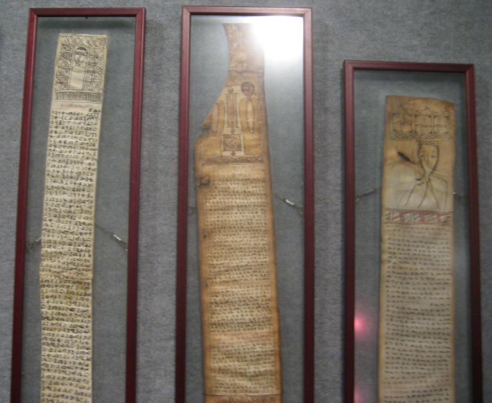 Eleven Ethiopian prayer scrolls