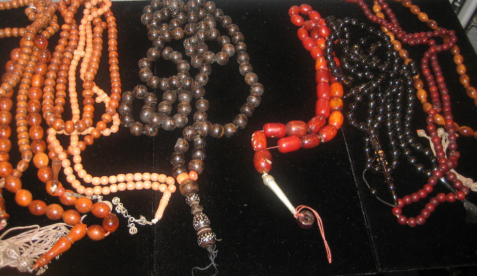 A collection of Muslim Tasbih beads