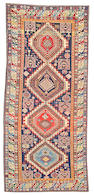 A Shirvan runner Caucasus size approximately 4ft. 7in. x 10ft. 4in.