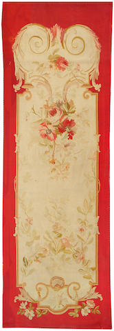 An Aubusson tapstry France size approximately 3ft. 4in. x 10ft. 2in.