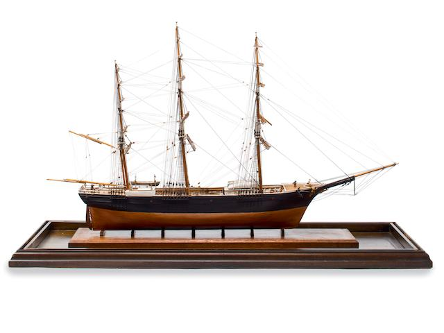 A model of the clipper ship Sea Witch 37-1/2 x 13-1/2 x 25 in. (95.3 x 34.3 x 63.5 cm.) (cased).