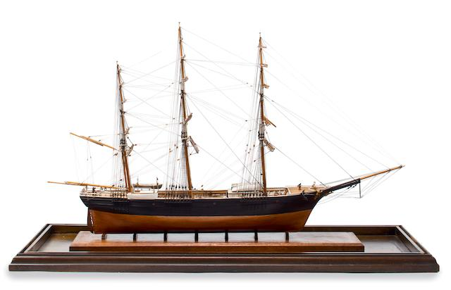 A model of the clipper ship Sea Witch American, 20th century 37-1/2 x 13-1/2 x 25 in. (95.3 x 34.3 x 63.5 cm.) cased.