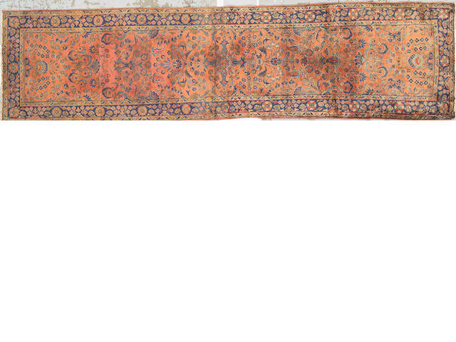 A Kashan runner Central Persia size approximately 2ft. 6in. x 10ft.