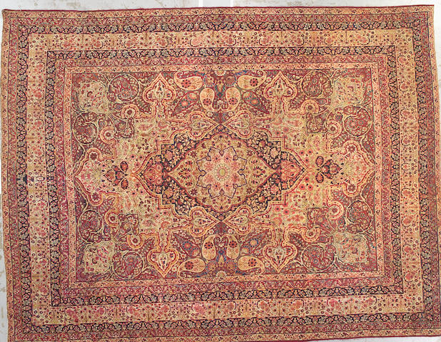 A Lavar Kerman carpet South Central Persia size approximately 9ft. x 12ft.