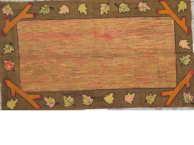 An American hook rug size approximately 7ft. 8in. x 4ft. 5in.