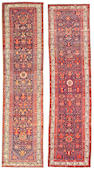 A pair of Malayer runners Central Persia size approximately 3ft. 3in. x 13ft. 6in.