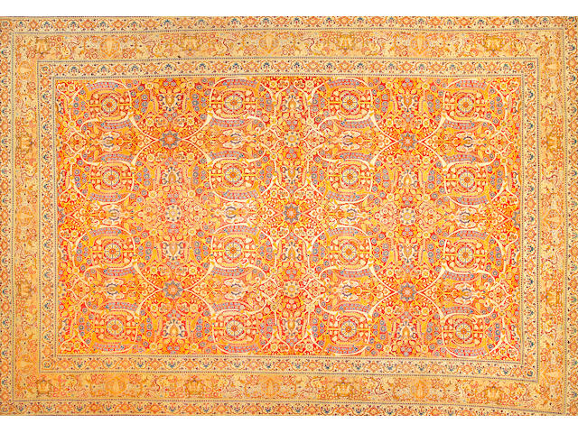 A Tabriz carpet Northwest Persia size approximately 10ft. 7in. x 15ft. 2in.