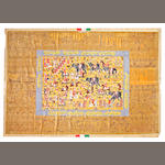 A silk Qum carpet Central Persia size approximately 6ft. 7in. x 9ft. 11in.