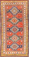 A Chelaberd runner Caucasus size approximately 3ft. 9in. x 7ft. 6in.