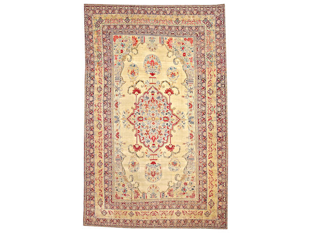 A Kerman carpet South Central Persia size approximately 10ft. 3in. x 16ft. 3in.