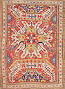 A Kazak rug Caucasus size approximately 5ft. 2in. x 7ft. 2in.