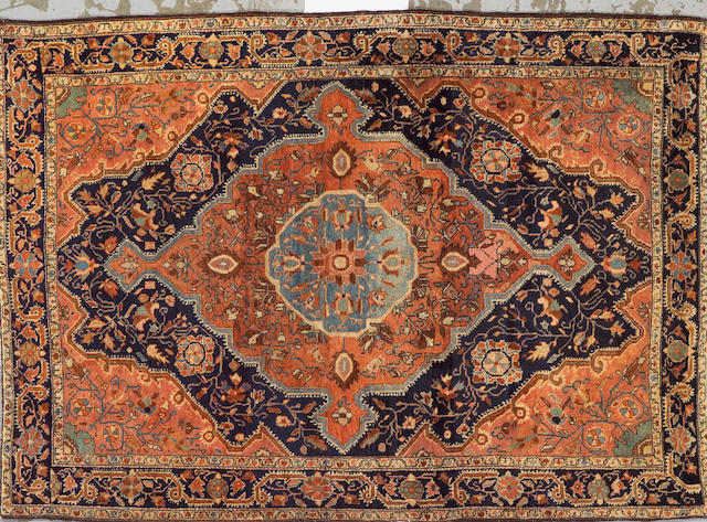 A Fereghan Sarouk rug Northwest Persia size approximately 3ft. 5in. x 4ft. 11in.