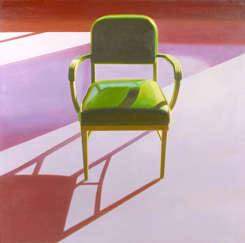 John Register (American, 1936-1996) Green Chair, 1976 40 x 40in