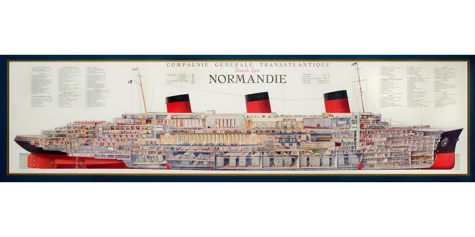after Albert Sebille (1874-1953)  24 x 61-1/2 in. (60.9 x 156.2 cm.) framed.