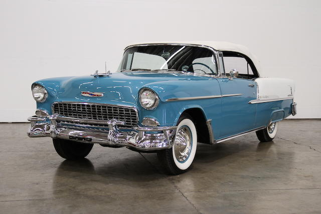 37-factory options from new,1955 Chevrolet Bel Air Convertible  Chassis no. VC55J112495