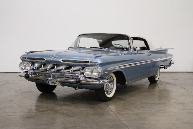 290hp/283 Rachester Ram-Jet Fuelie Powered,1959 Chevrolet Impala Fuel Injected Convertible  Chassis no. F59L189294