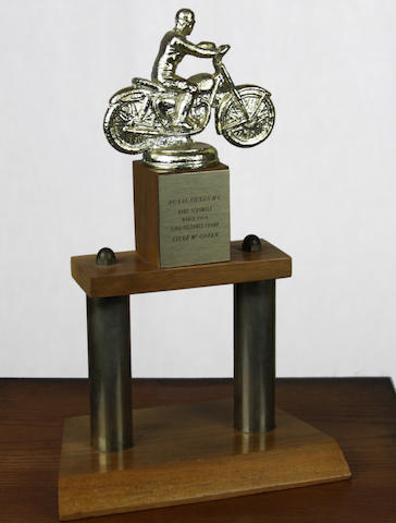 An Ex-Steve McQueen 1964 RRMC HS Long Distance Champ motorcycle races trophy,