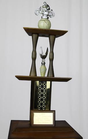 An Ex-Steve McQueen 1964 District 37 Championship motorcycle races trophy,