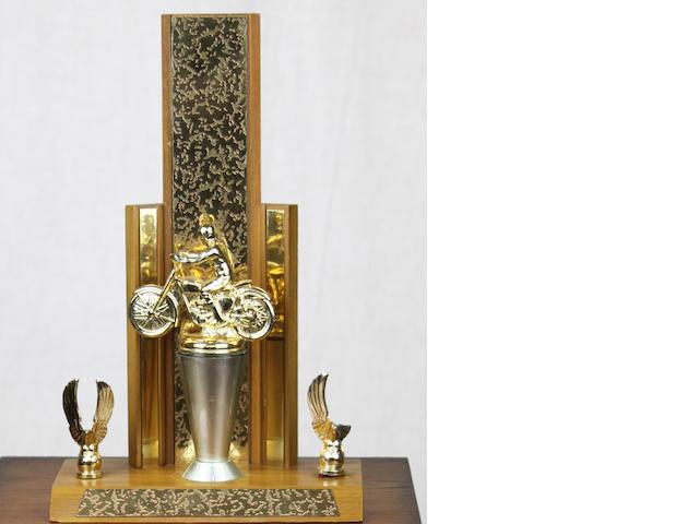 An Ex-Steve McQueen motorcycle racing trophy,
