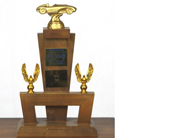 An Ex-Steve McQueen 1959 Santa Barbara road races trophy,