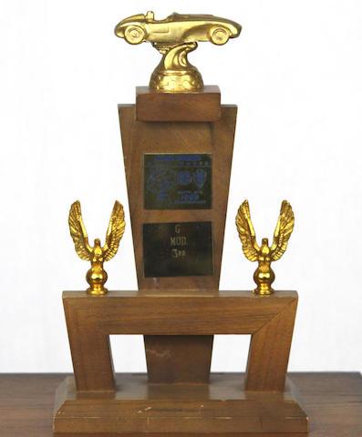 An Ex-Steve McQueen 1959 Santa Barbara road races trophy,