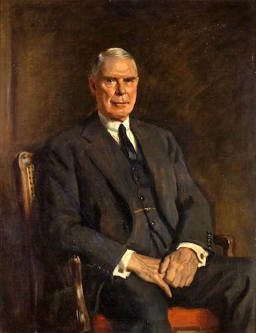 (n/a) Sir Oswald Birley (British, 1880-1952), 1920 Sir Ashley Sparks 45 x 34 in. (114.3 x 86.3 cm.)