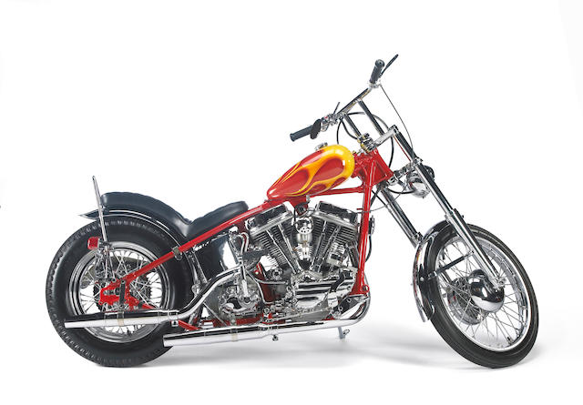 Built for Otis Chandler and exhibited at 'The Art of the Motorcycle' Exhibition,1962 Harley-Davidson 'Billy Bike' Recreation 1993