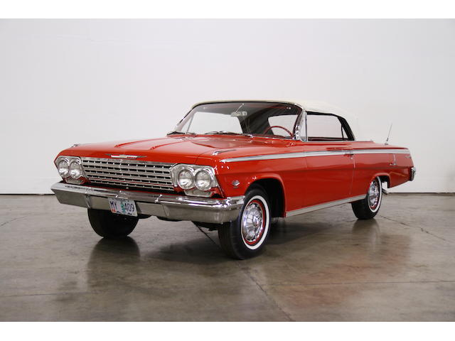 404/409hp Dual-Quad Powered, 4-Speed Manul,1962 Chevrolet Impala SS Convertible  Chassis no. 21867S312832