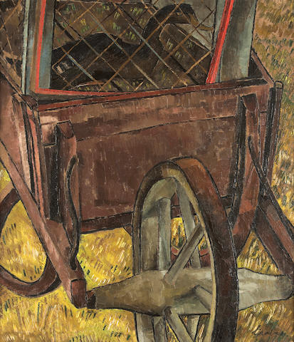 Morris Graves (American, 1910-2001) Wheelbarrow, c. 1936 34 x 30in