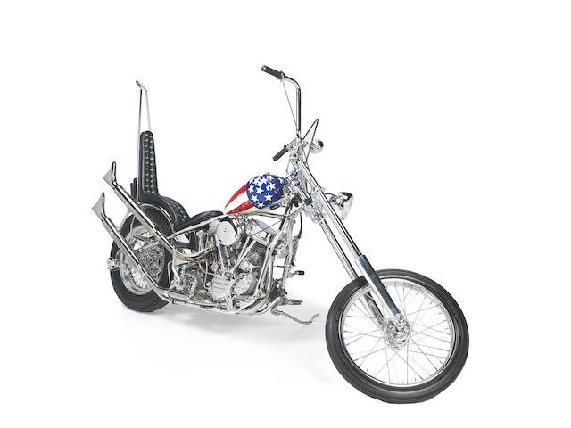 Built for Otis Chandler and exhibited at 'The Art of the Motorcycle' Exhibition,1963 Harley Davidson 'Captain America' Recreation 1993 Engine no. 62FL6966