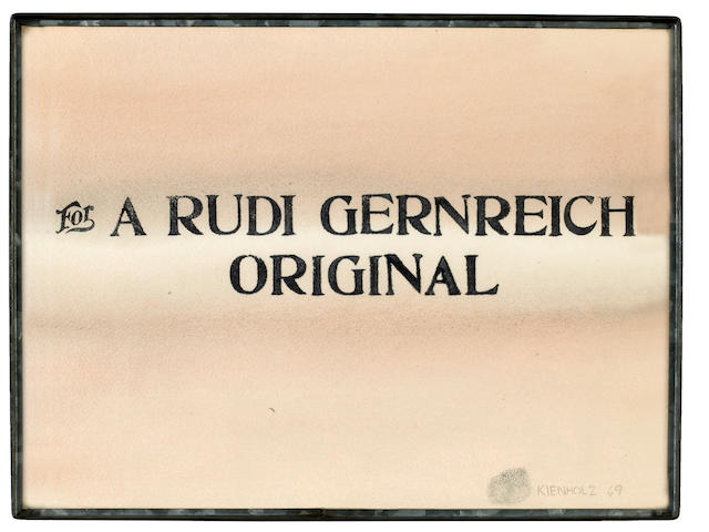 Edward Kienholz (American, 1927-1994) For a Rudi Gernreich Original, 1969 12 x 16in