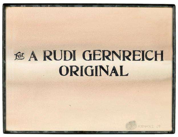 (n/a) Edward Kienholz (American, 1927-1994) For a Rudi Gernreich Original, 1969 12 x 16in
