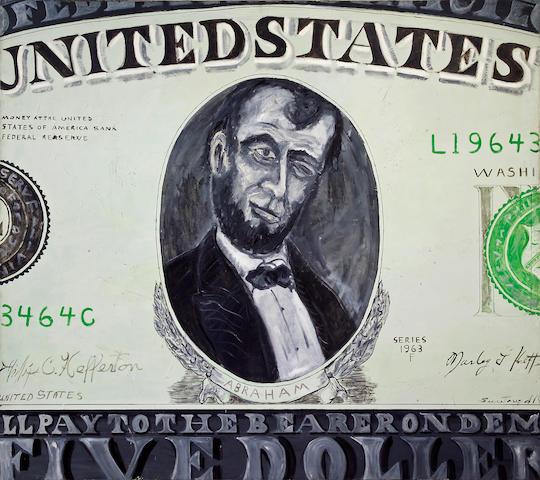 Phillip Hefferton (American, born 1933) Winkin' Lincoln, 1963 80 x 90in