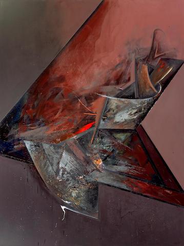 Jay DeFeo (American, 1929-1989) Trial by Fire, 1983 96 x 72in