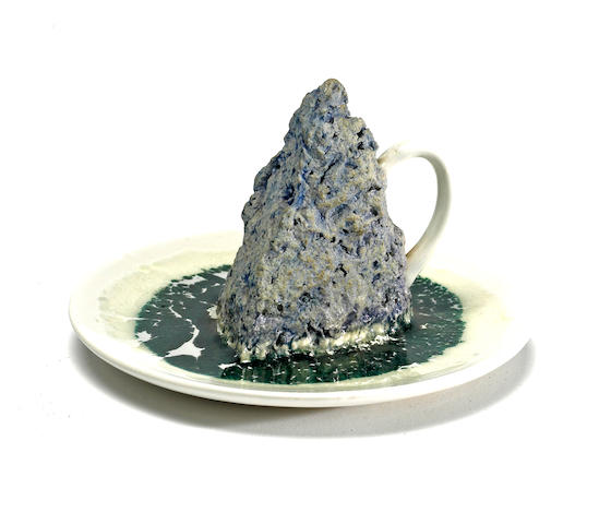 Robert Arneson (American, 1930-1992) Mountain Cup #9, 1972 3 3/4 x 5 1/2 x 5 1/2in