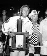 An Ex-Steve McQueen 1969 I.D.R.A. 1st place 4x4 trophy at Ascot park, Gardenia, California,