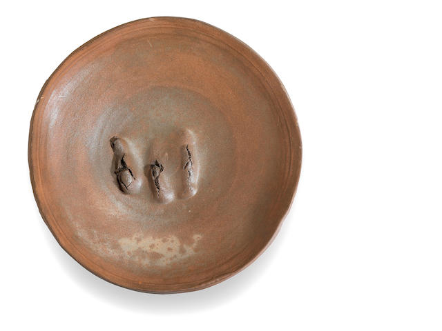 Peter Voulkos (American, 1924-2002) Untitled (Plate), 1987 (CR949.20-G) diameter 20in